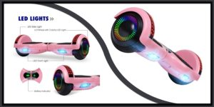 UNI-SUN Chrome Pink Hoverboard
