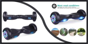 UNI-SUN Hoverboard with Bluetooth and Alien Wheels LED Lights-min