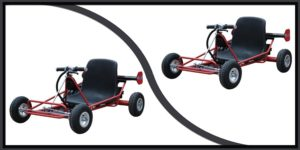 MotoTec Solar Electric Go Kart 24V Red-min