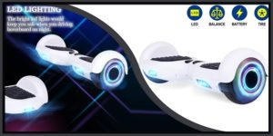 YHR White Hoverboard -min