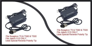 Swagtron T500 battery charger-min
