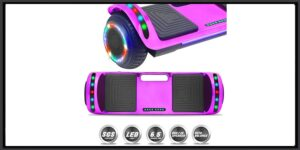 DOC Smart Self-Balancing Hoverboard with Built-in Speaker LED Lights Certified Hoverboard for Kids