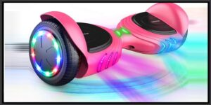 TOMOLOO Q2C Hoverboard for kids and Adults UL2272 Certificated- Speakers - Colorful RGB LED Light