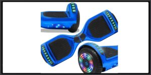 CHO POWER SPORTS Hoverboard Smart Self Balancing Scooter with Wireless Speaker |LED Wheel (Chrome Blue)