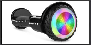 """City Cruiser, 6.5"""" Scooter Hover Board with UL2272 Certified Wheels LED Lights,Black"""