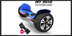Gyroshoes Hoverboard - Warrior 8.5 inch Off Road All Terrain Hoverboard with Bluetooth Speaker